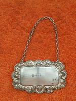 "Sterling Silver Hallmarked Decanter Label ""Sherry"" 1961 C J Vander Ltd (5 of 5)"