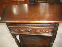 Carved Oak Side Table (2 of 2)