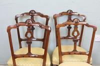 Antique Set of Four Victorian Walnut Dining Chairs (4 of 6)