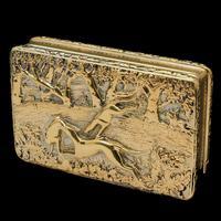 Georgian Solid Silver Gilt Snuff Box With Spectacular Fox Hunting Scene - Edward Smith 1832 (15 of 22)