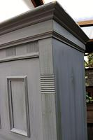 Fabulous Old Pine & Grey Painted Wardrobe / Hall / Kitchen Cupboard - We Deliver! (7 of 12)