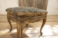 Elegant Small French Louis XV Walnut and Upholstered Foot Stool (5 of 7)