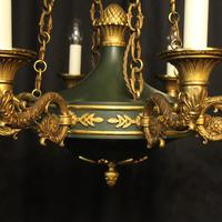 French Bronze Empire 8 Light Antique Chandelier (6 of 7)