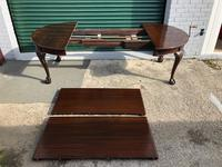 Antique Mahogany 8Ft Wind Out Extending Dining Table (6 of 14)