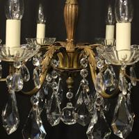 French Gilded 6 Light Chandelier c.1930 (9 of 10)