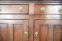 Antique Rustic English Country Kitchen Georgian Oak Dresser (5 of 12)