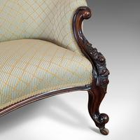 Antique Spoon Back Sofa, English, Walnut, 2 Seat Settee, Early Victorian, 1840 (6 of 12)