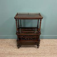 Victorian Rosewood Antique Canterbury (3 of 7)