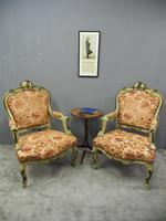 Pair of Italian Carved and Painted Armchairs (3 of 16)