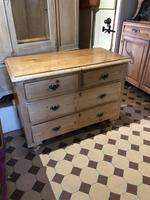 Antique Pine Two Over Two Chest of Drawers (7 of 10)