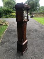 Small Georgian Oak Weight Drive Granddaughter Clock (3 of 12)