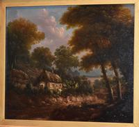 Fine cottage scene oil painting (6 of 9)