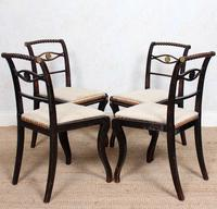 4 Regency Ebonised Dining Chairs Trafalgar (7 of 12)