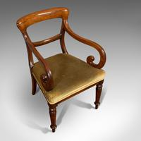 Antique Serpentine Armchair, English, Mahogany, Elbow Seat, Regency c.1820 (7 of 11)