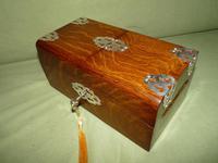 Solid Figured Oak Games Box + Accessories c.1890 (17 of 18)