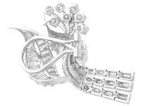 5.90ct Diamond & Platinum Tassel Earrings - Vintage c.1950 (5 of 9)