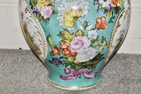 Stunning Very Large Late 19th Century Helena Wolfsohn Dresden Vase + Cover (8 of 11)