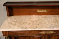 19th Centruy Marble Top Mahogany Chiffonier Sideboard (7 of 8)