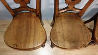 Set of Four Light Mahogany Victorian Hall Chairs (6 of 6)