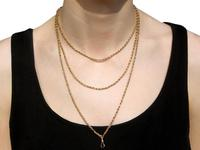 9ct Yellow Gold Longuard Chain - Antique c.1890 (8 of 12)