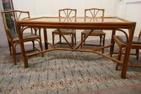 Regency Style Simulated Bamboo Conservatory Table & 6 Chairs (6 of 7)