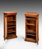 Pair of 19th Century Satinwood Pier Cabinets (4 of 4)