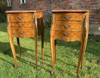 Pair of French Marquetry Bedside Tables (3 of 6)