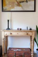 19th Century Pine Hall Table with Single Long Drawer (18 of 19)