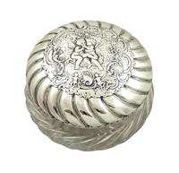 Antique Victorian Sterling Silver 'Cherub' Vanity Jar 1896 (9 of 9)