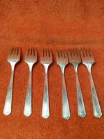 Antique Silver Plate EPNS Art Deco Desert Forks c.1920 (4 of 7)