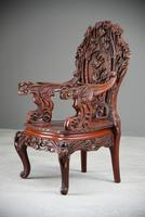 Large Japanese Carved Throne Chair (8 of 12)