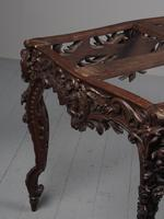Victorian French Carved Fruitwood & Marble Top Console Table (7 of 19)