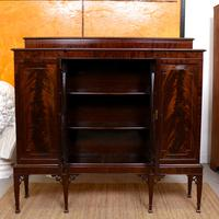 Edwardian Bookcase Inlaid Mahogany Glazed (3 of 7)
