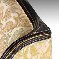 Fine Mid 19th Century Ebonised Mahogany Sofa (6 of 6)