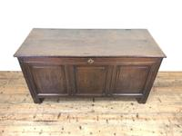 Antique 18th Century Oak Coffer with Panel Front (2 of 14)