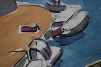 LoÏs Hutton Avant-Garde Art Deco Watercolour 1920 (5 of 8)