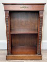 English Small Regency Style Dwarf Recessed Mahogany Open Bookcase (15 of 44)