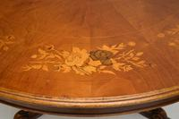 Antique Italian Marquetry Top Walnut Dining Table (6 of 10)