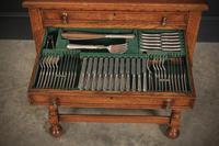Oak 3 Drawer Canteen Cutlery Set by Ellington & Co (15 of 18)