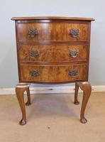 Small Burr Walnut Shaped Front Chest of Drawers (2 of 8)