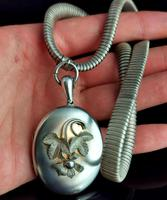 Victorian Silver Collar Necklace and Floral Locket (12 of 14)