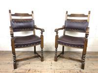 Pair of Mid 20th Century Oak Armchairs (3 of 7)