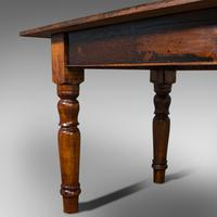 Very Large 13' Antique Dining Table, English, Pine, Country House, Victorian (12 of 12)