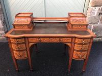 Inlaid Satinwood Carlton House Desk By Maple & Co