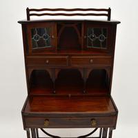 Antique Edwardian Arts & Crafts Mahogany Writing Bureau (8 of 12)