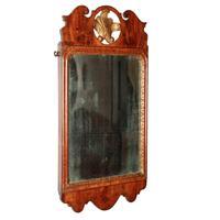 George I Walnut Framed Mirror (2 of 7)