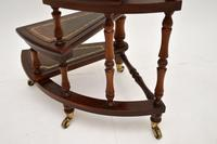 Antique Mahogany & Leather Spiral Library Steps (7 of 10)
