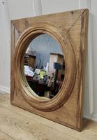 Large Stripped Pine Wall Mirror (4 of 6)