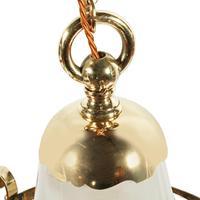 Edwardian Brass & Opaque Glass Hall Lantern (7 of 7)