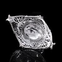 Antique Victorian Small Silver Sweet Basket / Bonbon Dish - Charles Stuart Harris 1890 (10 of 14)